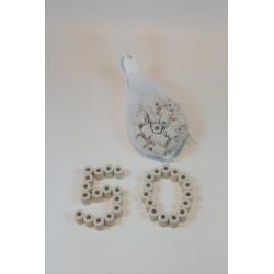 EM-Keramikpipes grau, 50 Stück