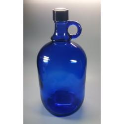 Bouteille en verre bleu 2...